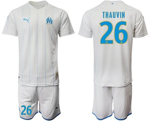 Marseille #26 Thauvin Home Soccer Club Jersey