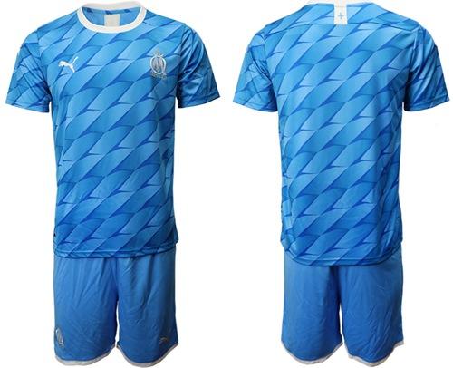 Marseille Blank Away Soccer Club Jersey