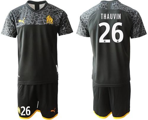 Marseille #26 Thauvin Third Soccer Club Jersey