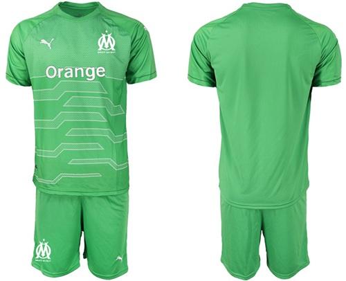 Marseille Blank Green Goalkeeper Soccer Club Jersey