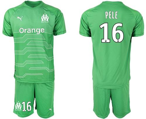 Marseille #16 Pele Green Goalkeeper Soccer Club Jersey