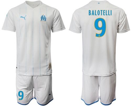 Marseille #9 Balotelli Home Soccer Club Jersey