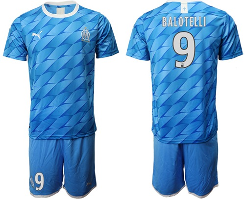 Marseille #9 Balotelli Away Soccer Club Jersey