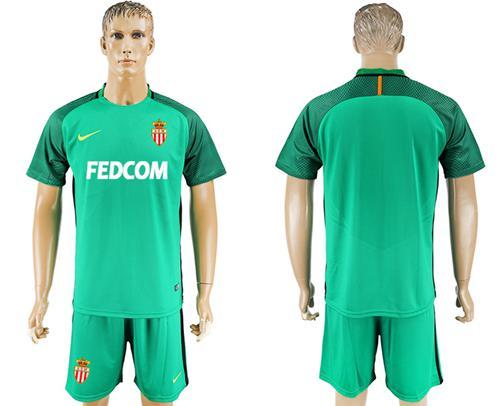 Monaco Blank Green Goalkeeper Soccer Club Jersey