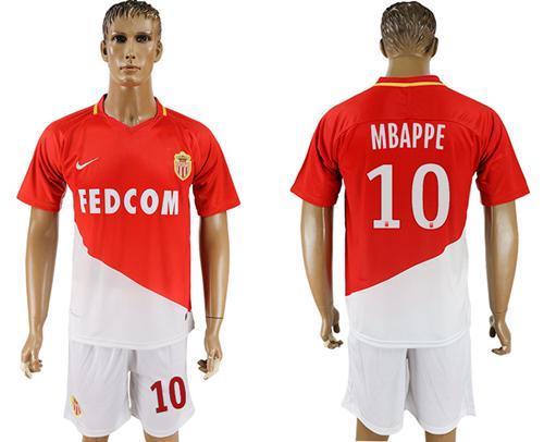 Monaco #29 Mbappe Home Soccer Club Jersey