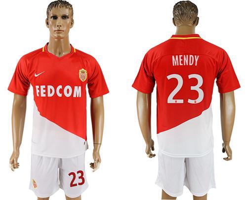 Monaco #23 Mendy Home Soccer Club Jersey