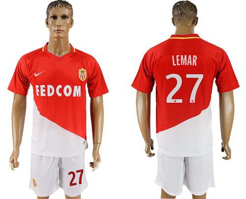 Monaco #27 Lemar Home Soccer Club Jersey