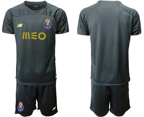 Oporto Blank Black Goalkeeper Soccer Club Jersey