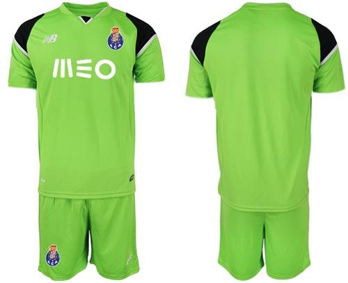 Oporto Blank Green Goalkeeper Soccer Club Jersey
