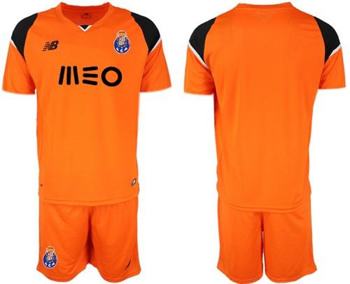 Oporto Blank Orange Goalkeeper Soccer Club Jersey