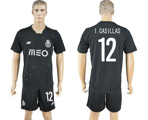 Oporto #12 I.Casillas Away Soccer Club Jersey