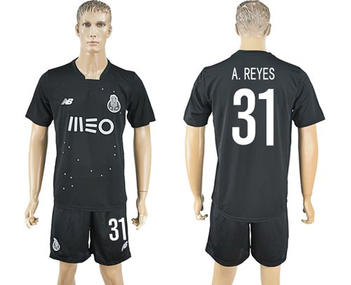 Oporto #31 A.Reyes Away Soccer Club Jersey