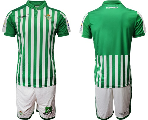 Real Betis Blank Home Soccer Club Jersey