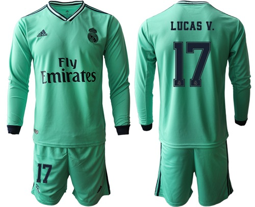 Real Madrid #17 Lucas V. Third Long Sleeves Soccer Club Jersey