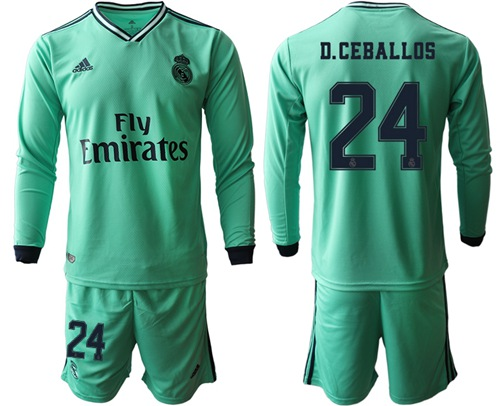 Real Madrid #24 D.Ceballos Third Long Sleeves Soccer Club Jersey