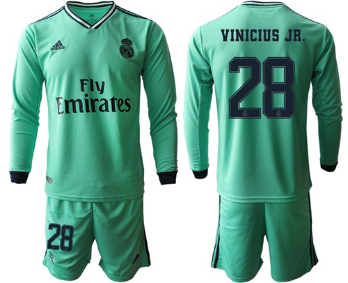 Real Madrid #28 Vinicius Jr. Third Long Sleeves Soccer Club Jersey