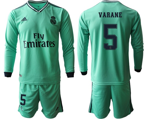 Real Madrid #5 Varane Third Long Sleeves Soccer Club Jersey