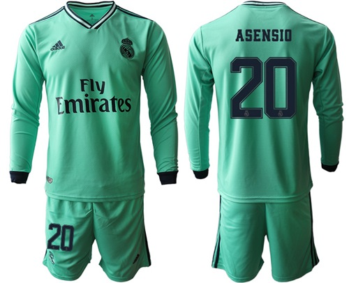 Real Madrid #20 Asensio Third Long Sleeves Soccer Club Jersey