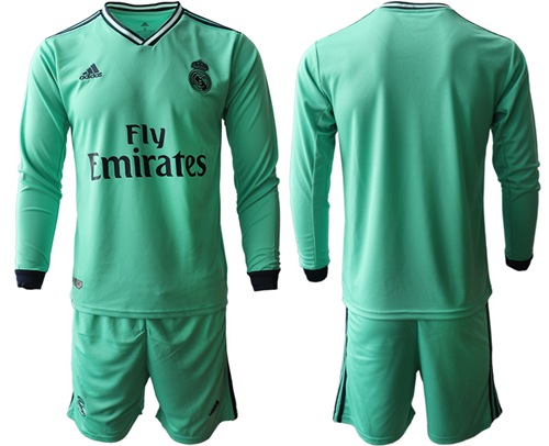 Real Madrid Blank Third Long Sleeves Soccer Club Jersey