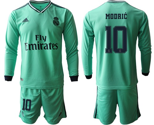 Real Madrid #10 Modric Third Long Sleeves Soccer Club Jersey
