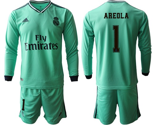 Real Madrid #1 Areola Third Long Sleeves Soccer Club Jersey