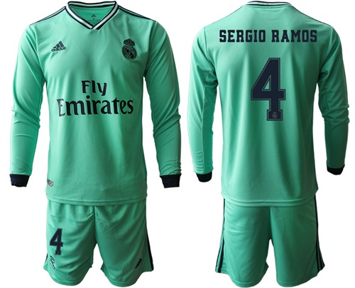 Real Madrid #4 Sergio Ramos Third Long Sleeves Soccer Club Jersey