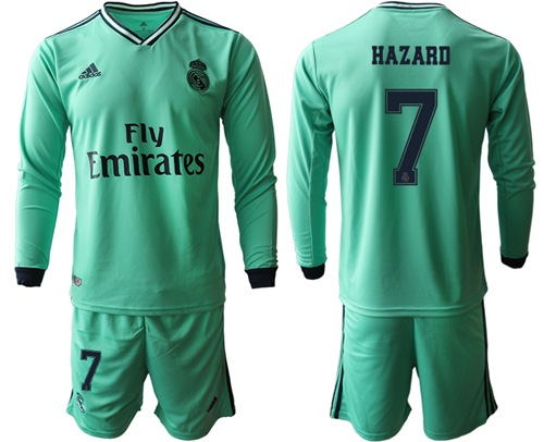 Real Madrid #7 Hazard Third Long Sleeves Soccer Club Jersey