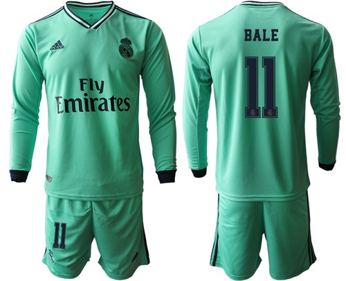 Real Madrid #11 Bale Third Long Sleeves Soccer Club Jersey