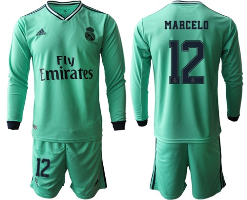 Real Madrid #12 Marcelo Third Long Sleeves Soccer Club Jersey
