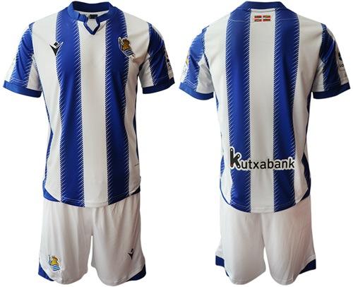 Real Sociedad Blank Home Soccer Club Jersey