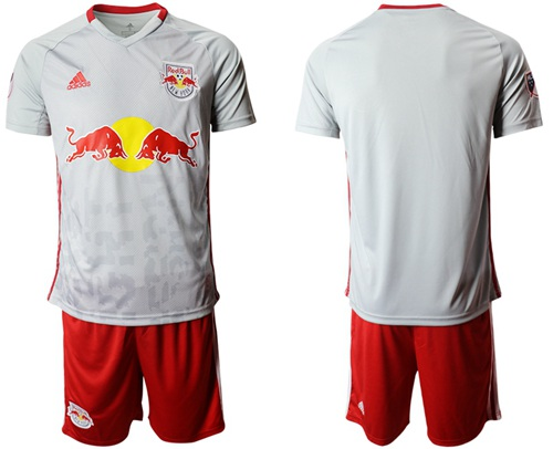 Red Bull Blank White Home Soccer Club Jersey