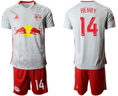 Red Bull #14 Henry White Home Soccer Club Jersey