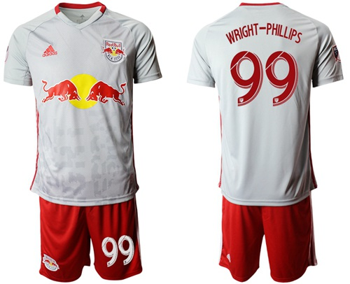 Red Bull #99 Wright-Phillips White Home Soccer Club Jersey