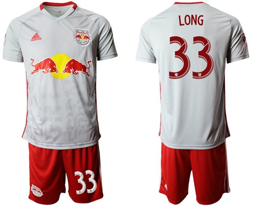 Red Bull #33 Long White Home Soccer Club Jersey