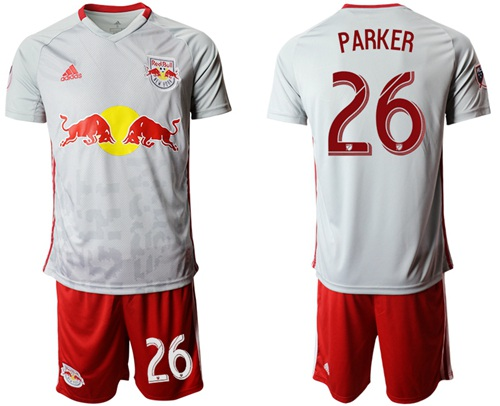 Red Bull #26 Parker White Home Soccer Club Jersey