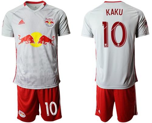 Red Bull #10 Kaku White Home Soccer Club Jersey