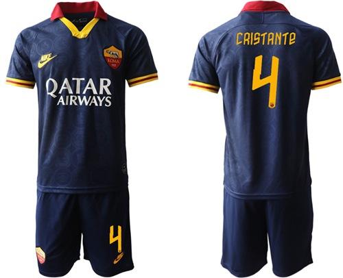 Roma #4 Cristante Third Soccer Club Jersey