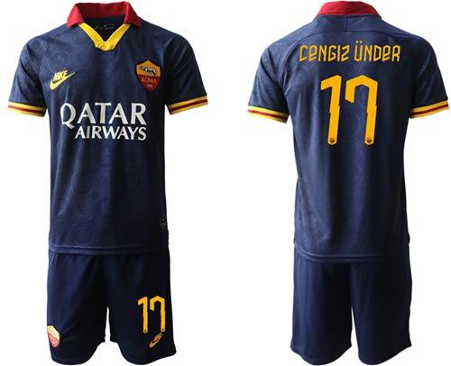 Roma #17 Cengiz Under Third Soccer Club Jersey