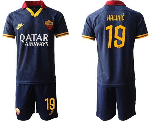 Roma #19 Kalinic Third Soccer Club Jersey