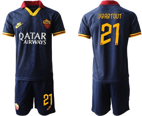Roma #21 Veretout Third Soccer Club Jersey