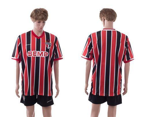 Sao Paulo Blank Home Soccer Club Jersey