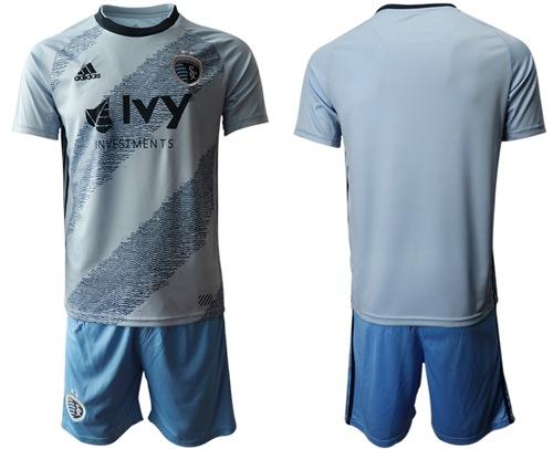 Sporting Kansas City Blank Home Soccer Club Jersey