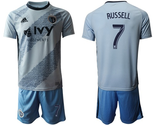 Sporting Kansas City #7 Russell Home Soccer Club Jersey