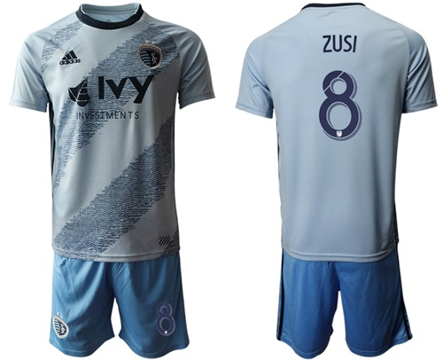 Sporting Kansas City #8 Zusi Home Soccer Club Jersey