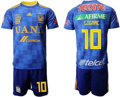 Tigres #10 Gignac Away Soccer Club Jersey
