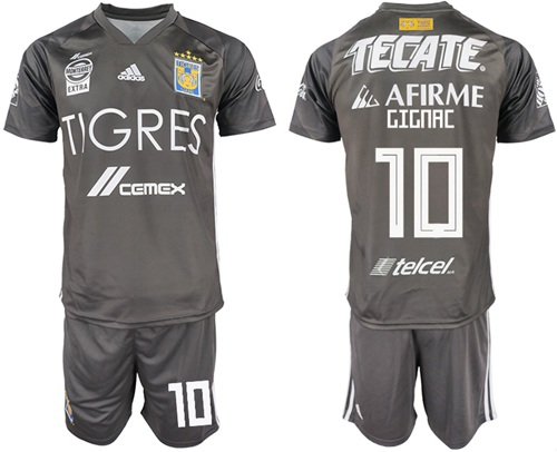 Tigres #10 Gignac Third Soccer Club Jersey