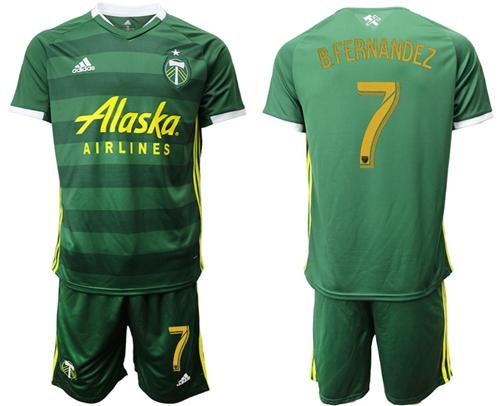 Portland Timbers #7 B.Fernandez Home Soccer Club Jersey