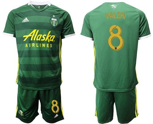 Portland Timbers #8 Valeri Home Soccer Club Jersey