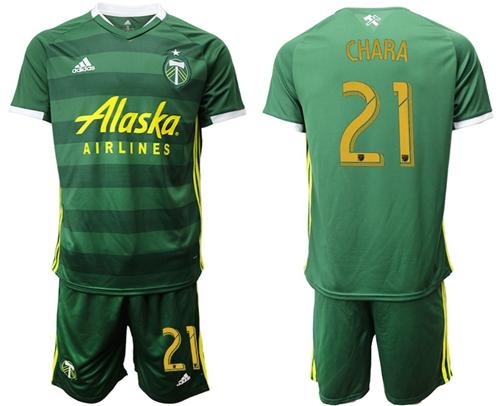 Portland Timbers #21 Chara Home Soccer Club Jersey