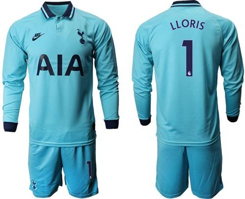 Tottenham Hotspur #1 Lloris Third Long Sleeves Soccer Club Jersey